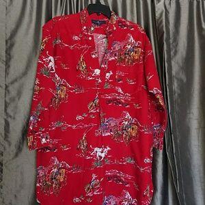 Ralph Lauren S oversized PJ Equestrian red preowne